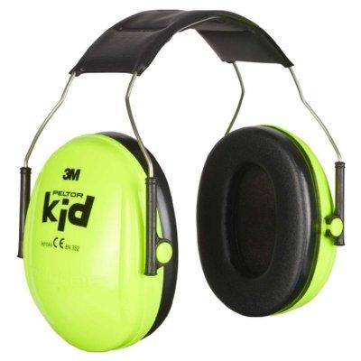 Chránič sluchu detský slúchadlový PELTOR KID NEON zelený H510AK-442-GB
