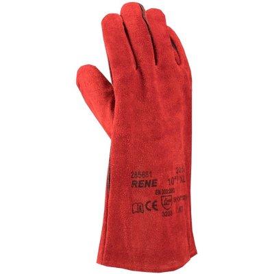Rukavice zváračské RENE červené č.10 ARDON A2112