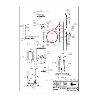 Nádoba tlaková k postrekovaču NEPTUN náhradná JAD 6360