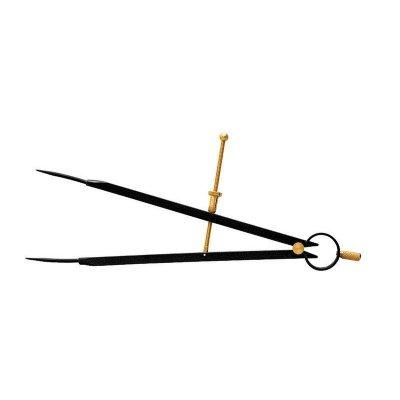 Kružidlo s pružinou BLACK COAT 150 KINEX  2070-02-150