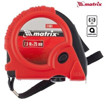 Meter stáčací (zvinovací) 7,5m PROFI pogumovaný MATRIX 310019