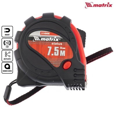 Meter stáčací (zvinovací) nylón 7,5m PROFI magnet MATRIX 310069