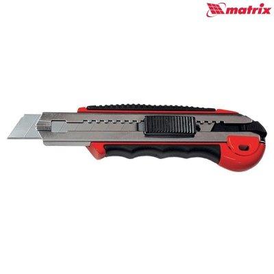 Nôž ulamovací 18mm kovový s tlačítkom PROFI Premium MTX 78921
