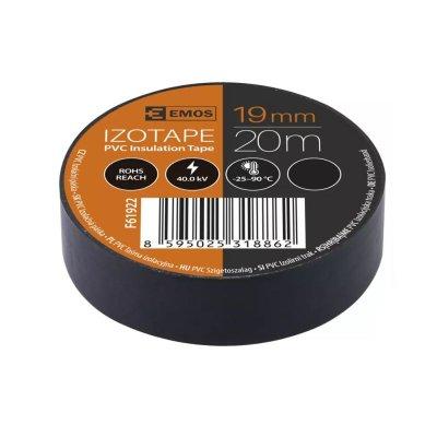Páska izolačná 19/20 čierna PVC EMOS F61922