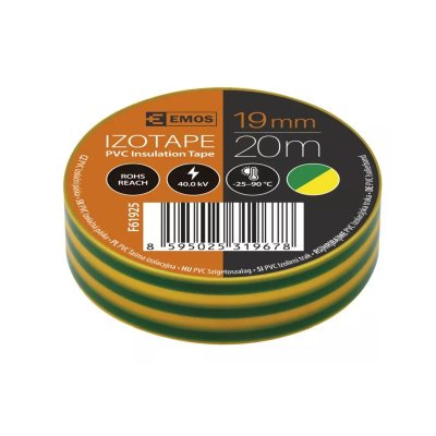 Páska izolačná 19/20 zeleno-žltá PVC EMOS F61925