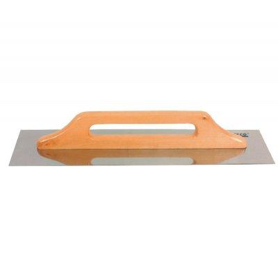 Hladítko nerez 280x130 drevená rukoväť TECO