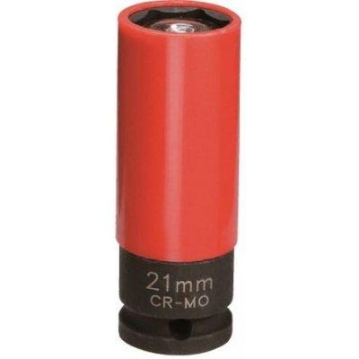 Hlavica na elektróny 1/2 21 predĺžená kovaná s vyhadzovačom JONNESWAY (orech)