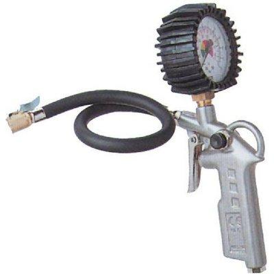 Pištoľ na dofúk. pneumatík s manometrom
