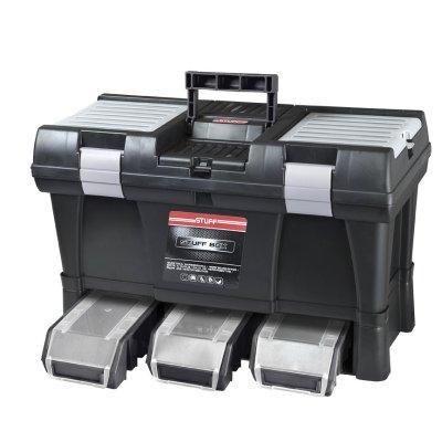 Kufrík 525x255x325 modulárny ALU Stuff Semi PROFI PATROL