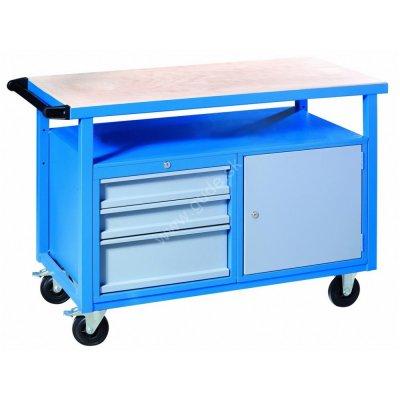 Stôl pracovný ponk P1200SLT 1200x600x850 na kolieskach