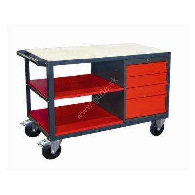 Stôl pracovný ponk na kolesách ZP 1200x600x850